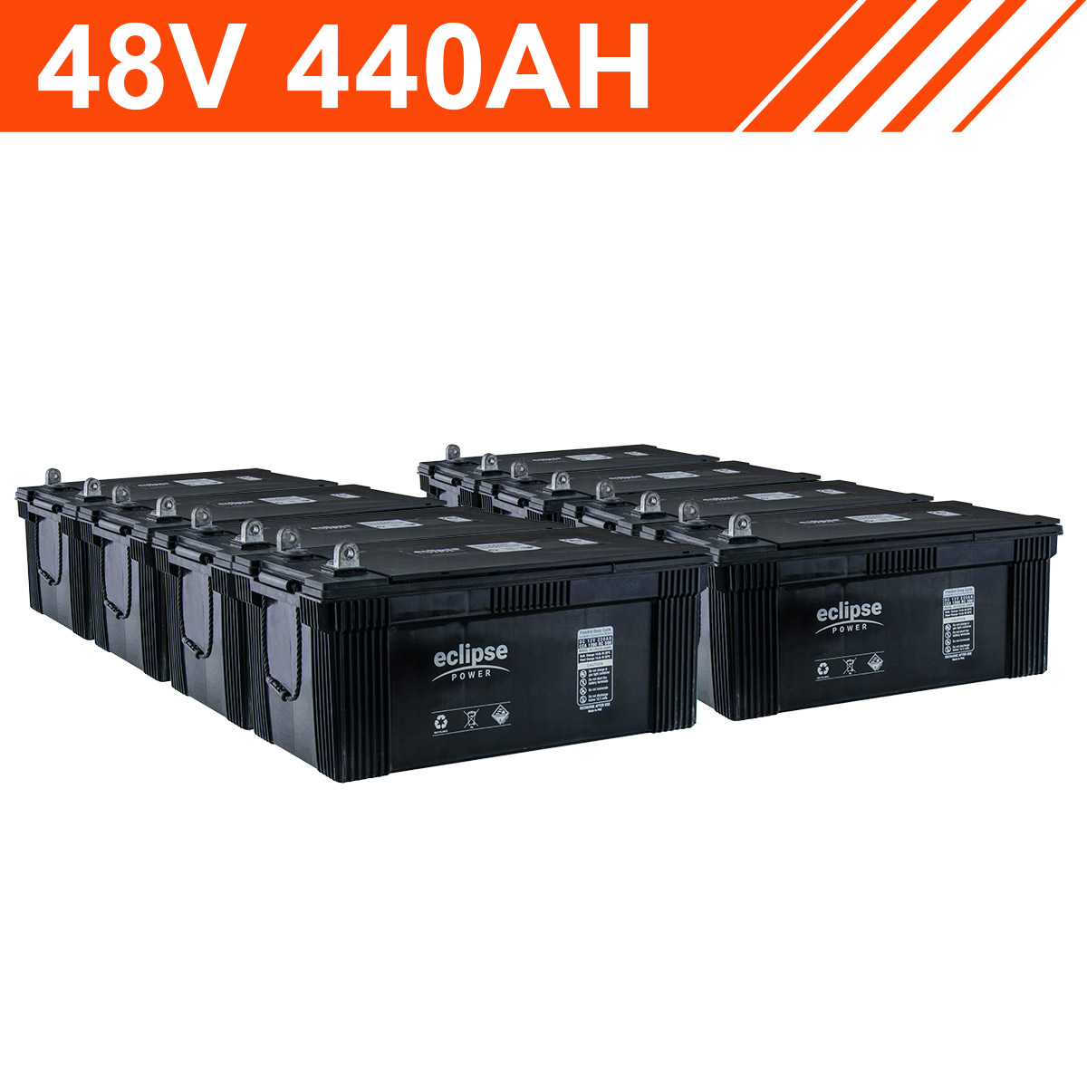 48v 440ah Flooded Deep Cycle Battery Bank
