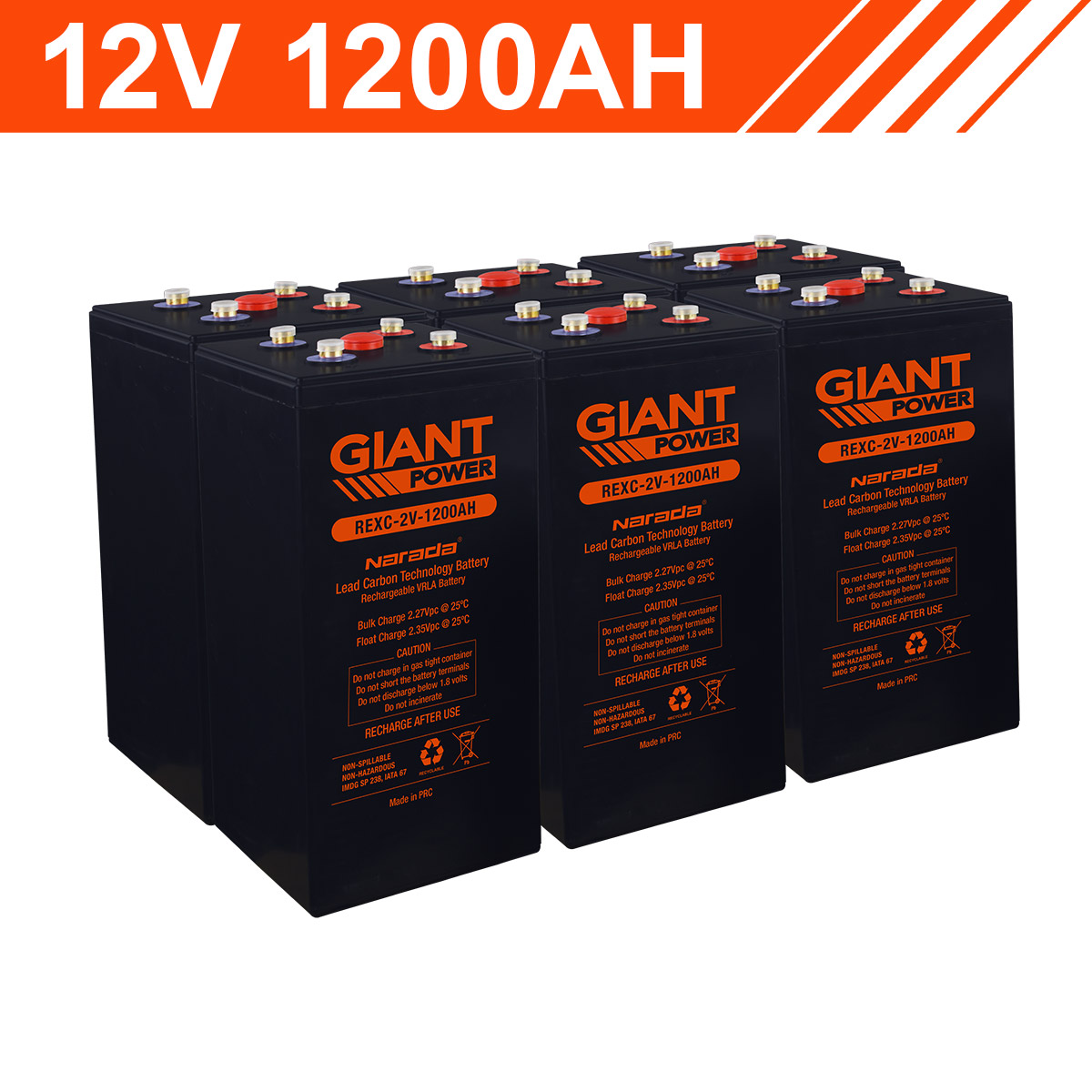14 4kwh 12v 1200ah Lead Carbon Battery Bank 2v Cells