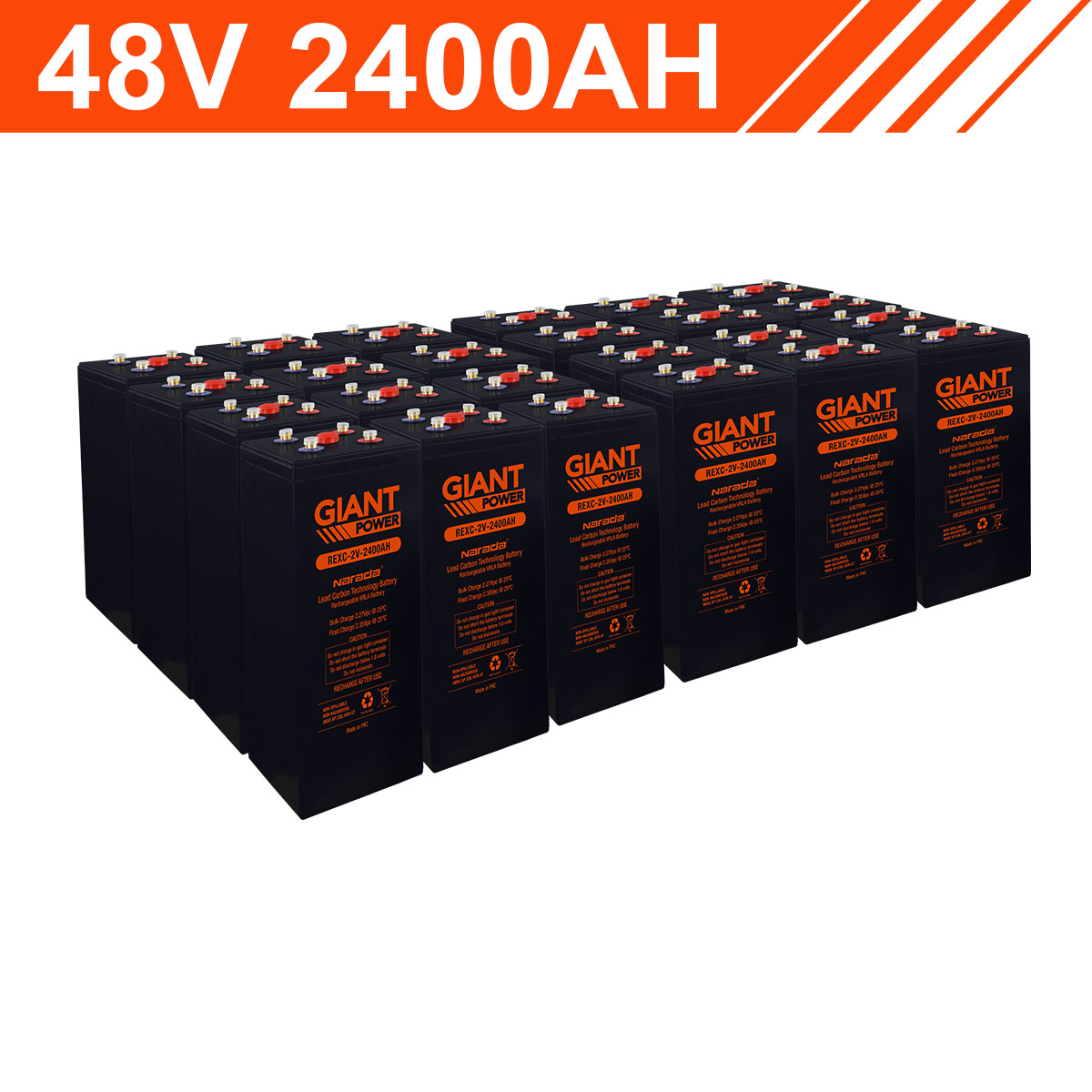 115 2kwh 48v 2400ah Lead Carbon Battery Bank 2v Cells