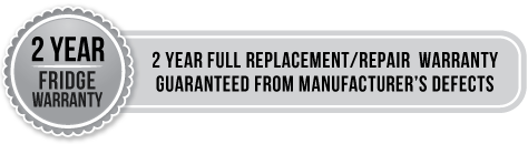 2 year fridge warranty - 2 year full replacement/repair warranty guaranteed from manufacturer's defects