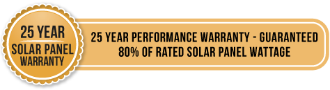25 year solar panel warranty - 25 year performance warranty - guaranteed 80% of rated solar panel wattage