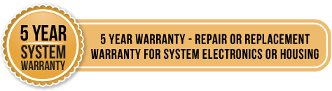5 year system warranty - 5 year warranty - repair or replacement warranty for system electronics or housing