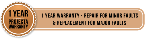 1 year projecta warranty - 1 year warranty - repair for minor faults and replacement for major faults