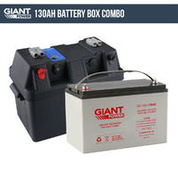 130AH 12V Deep Cycle AGM Powered Battery Box Combo