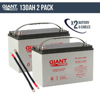 2x 130AH 12V AGM Deep Cycle Battery