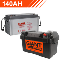 140AH 12V Deep Cycle AGM Powered Battery Box Combo
