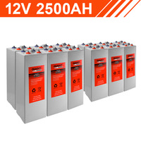 30.0kWh 12V 2500AH Tubular Gel Battery Bank (2V cells)
