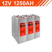 15.0kWh 12V 1250AH Tubular Gel Battery Bank (2V cells)