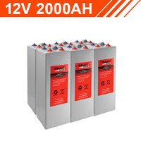 24.0kWh 12V 2000AH Tubular Gel Battery Bank (2V cells)