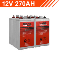 3.2kWh 12V 270AH Tubular Gel Battery Bank (2V cells)