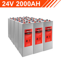 48.0kWh 24V 2000AH Tubular Gel Battery Bank (2V cells)
