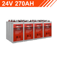 6.4kWh 24V 270AH Tubular Gel Battery Bank (2V cells)