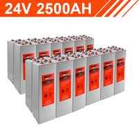 60.0kWh 24V 2500AH Tubular Gel Battery Bank (2V cells)