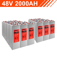 96.0kWh 48V 2000AH Tubular Gel Battery Bank (2V cells)