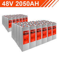 98.4kWh 48V 2050AH Tubular Gel Battery Bank (2V cells)