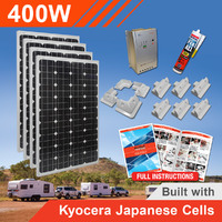 400W 12V Complete DIY Solar Kit (4x100W) with Kyocera Japanese Cells