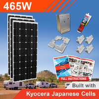 465W 12V Complete DIY Solar Kit (3x155W) with Kyocera Japanese Cells