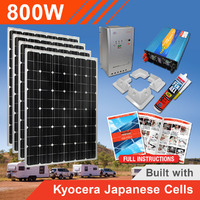 800W 24V Complete DIY Solar Kit (4x200W) with Kyocera Japanese Cells