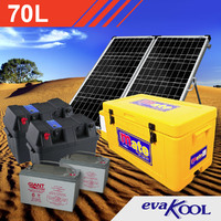 EvaKool 70L FridgeMate Complete Solar Fridge Kit