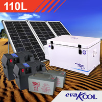 EvaKool 110L Complete Solar Fridge Kit