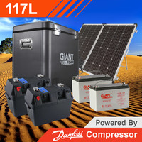 Giant Power 117L Complete Solar Fridge Kit