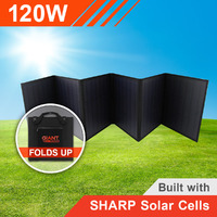 120W 12V Foldable Solar Mat with Sharp Solar Cells (6 panel)