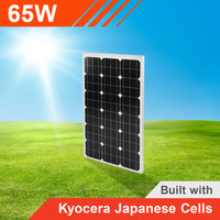 65W Solar Panel with Kyocera Japanese Cells
