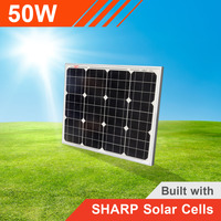 50W Solar Panel with Sharp Solar Cells