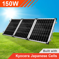 150w 12v Portable Solar Panel Trifold with Kyocera Japanese Cells