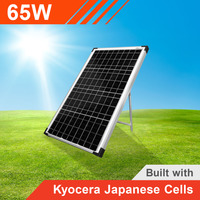 65w 12v Portable Solar Panel with Kyocera Japanese Cells