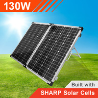 130w 12v Portable Solar Panel with Sharp Solar Cells