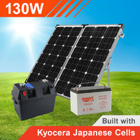 130W Complete Portable Solar Kit with Battery (Kyocera Japanese Cells)