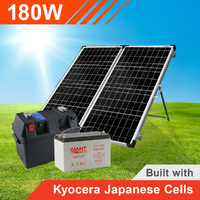 180W Complete Portable Solar Kit with Battery (Kyocera Japanese Cells)