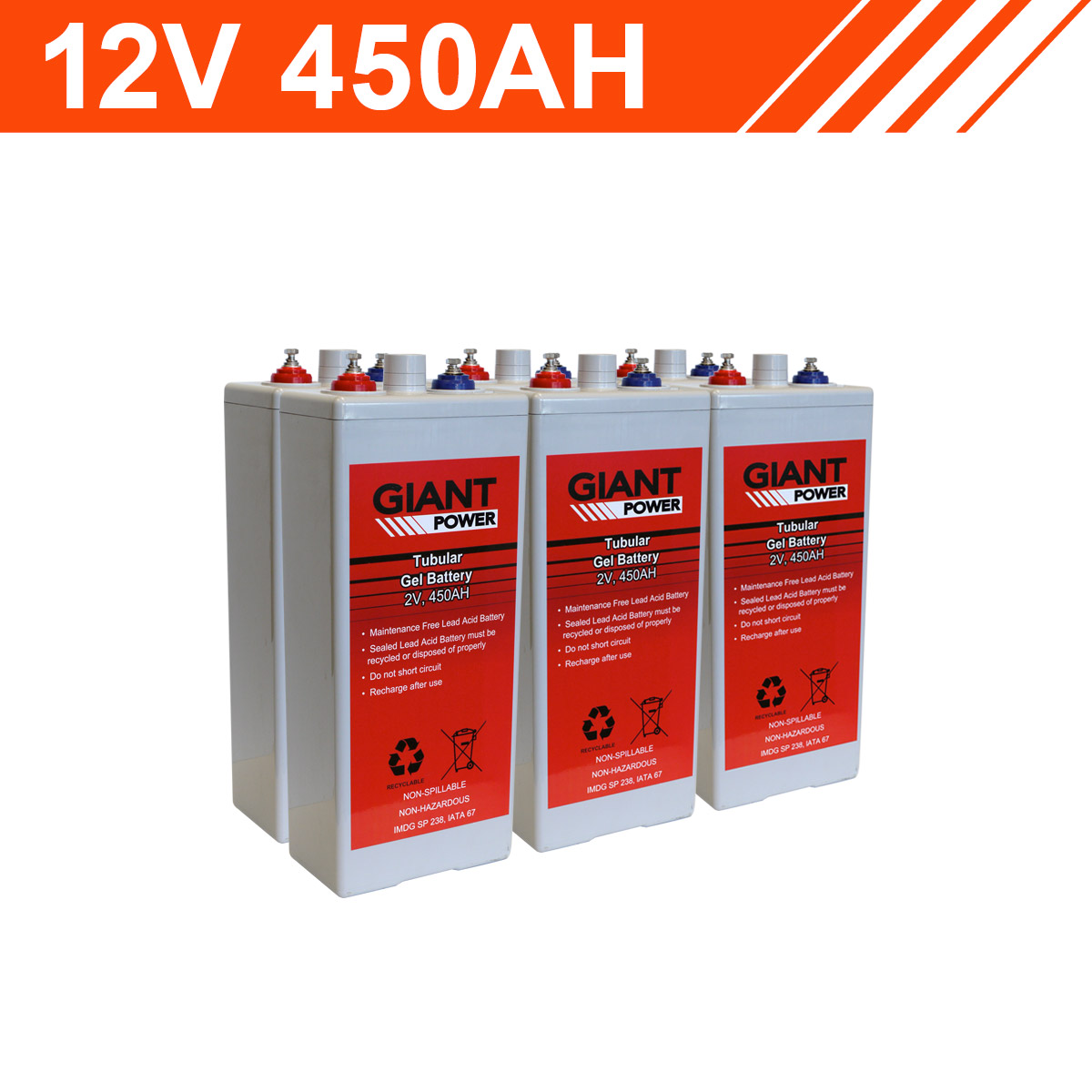 12v 450ah Tubular Gel Battery Bank