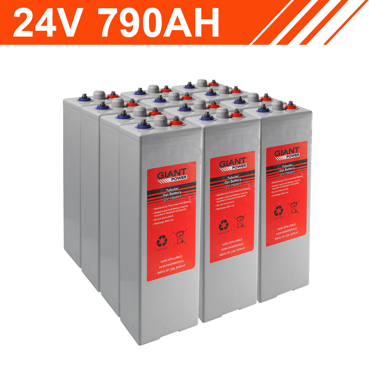 24v 790ah Tubular Gel Battery Bank