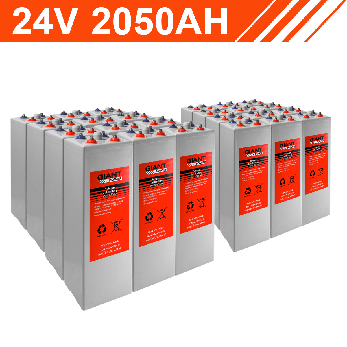 24v 2050ah Tubular Gel Battery Bank