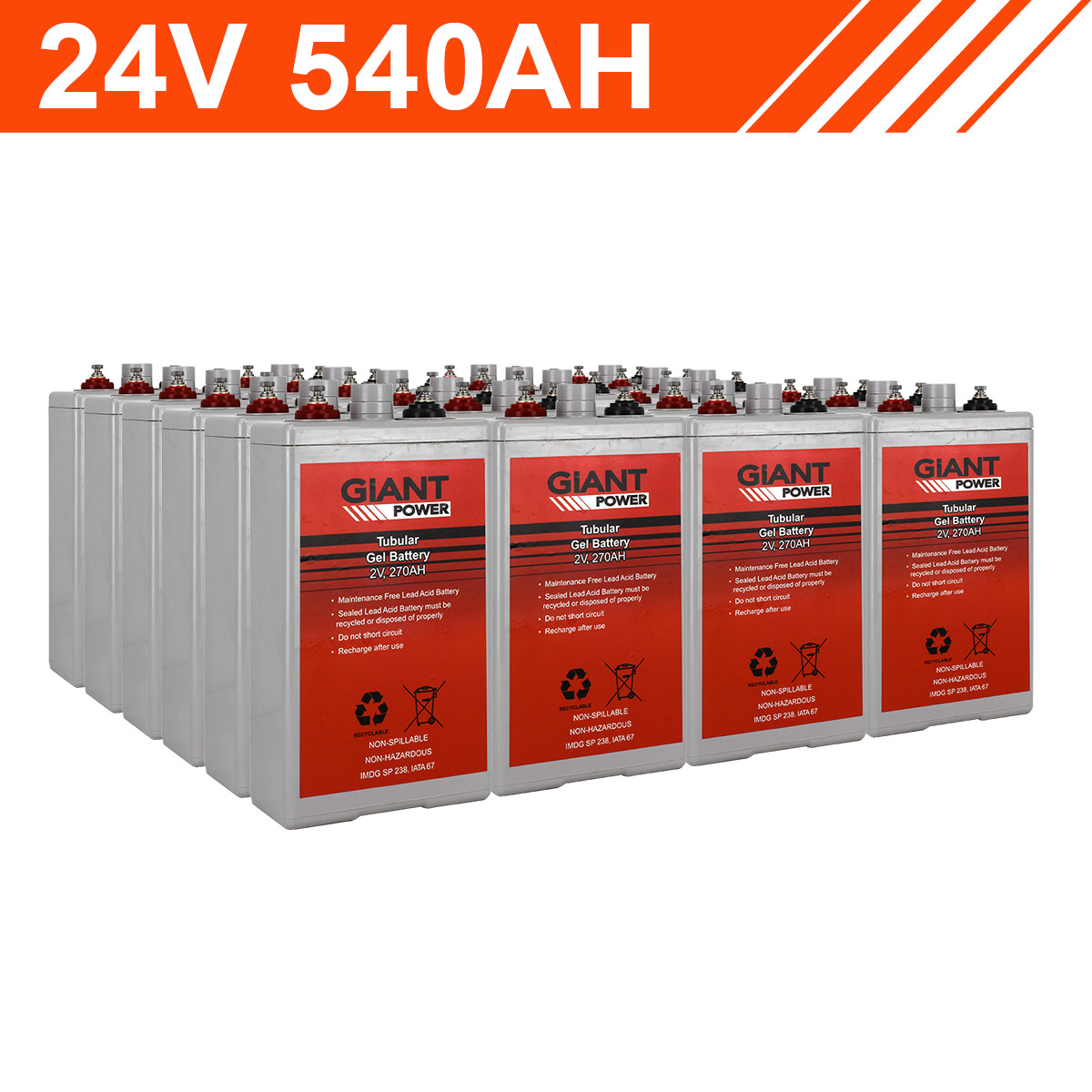 24v 540ah Tubular Gel Solar Battery Bank