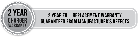 2 year charger warranty - 2 year full replacement warranty guaranteed from manufacturer's defects