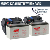2x 130AH 12V Deep Cycle AGM Powered Battery Box