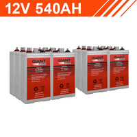 6.4kWh 12V 540AH Tubular Gel Battery Bank (2V cells)