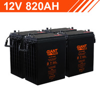 Giant Power 9.84kWh 12V 820AH AGM Battery Bank (6v Cells)