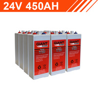 10.8kWh 24V 450AH Tubular Gel Battery Bank (2V cells)