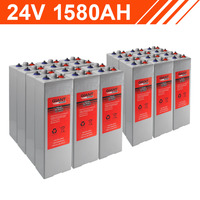 37.9kWh 24V 1580AH Tubular Gel Battery Bank (2V cells)