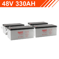 15.8kWh 48V 330AH Giant Power AGM Battery Bank (12V cells)