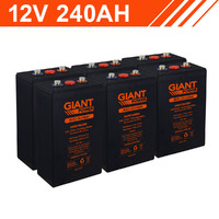 2.8kWh 12V 240AH Carbon Lead Battery Bank (2V cells)