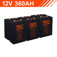 4.3kWh 12V 360AH Carbon Lead Battery Bank (2V cells)