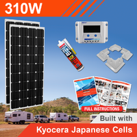 310W 12V Complete DIY Solar Kit (2x155W) with Kyocera Japanese Cells