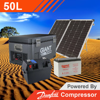 Giant Power 50L Complete Solar Fridge Kit