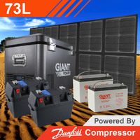 Giant Power 73L Complete Foldable Solar Mat Fridge Kit