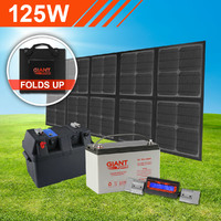 125W Complete Foldable Solar Mat Kit with Battery